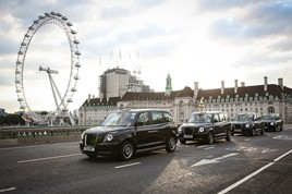 LEVC hybrid electric London taxi