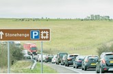 Traffic on the single-carriageway section of the A303 near Stonehenge