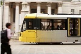 Tram on Manchester street