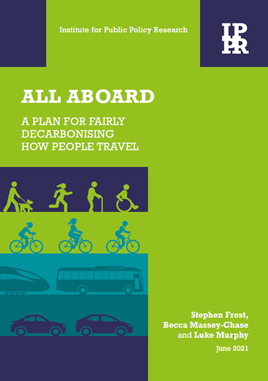 All aboard: A plan for fairly decarbonising how people travel report cover