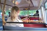 Passenger sat on a bus