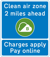 Clean air zone sign