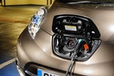 Electric vehicle (EV) being charged