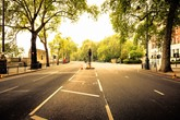 Empty street in London, UK.