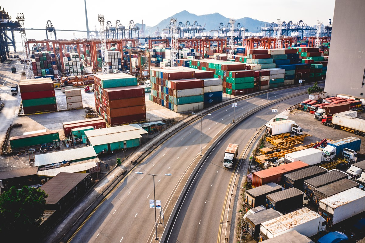 freight in Junction in Kowloon, Hong Kong, China