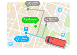 Image from a predictive parking system