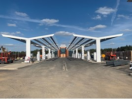 Gridserve's Electric Forecourt in Braintree, Essex under construction