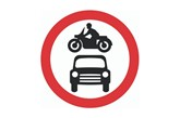 No cars or motorcycles sign