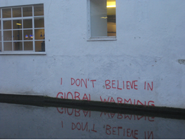 Climate change graffito