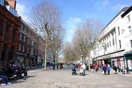 A pedestrianised street in York