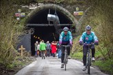 The Queensbury Tunnel cyclists