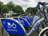 nextbike dock in Cardiff