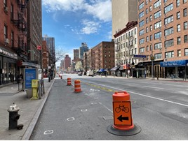 Cycle lane in New York City