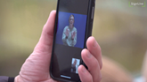 Mobile phone showing Sign Live app