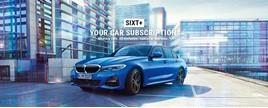Blue BMW Sixt+ logo
