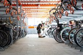 Cycle parking hub in Walthamstow