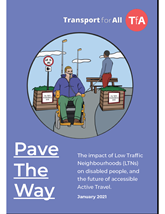 Transport for All Pave the Way report cover