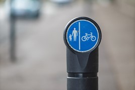 walk and cycling sign