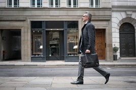 Businessman walking